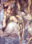 Michelangelo - Detail  of 'The Last Judgement (Sistine Chapel)