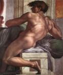 Michelangelo - Sistine Chapel ceiling - Ignudi.