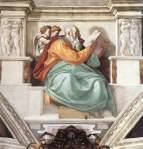 Michelangelo - Sistine Chapel ceiling - Zechariah