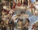 Michelangelo - Sistine chapel - Last Judgment (detail)