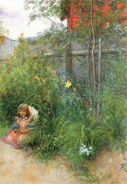 Carl Larsson - Brita In The Flowerbed