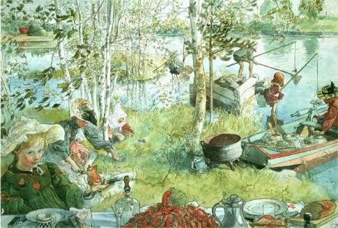 Carl Larsson - Crayfishing