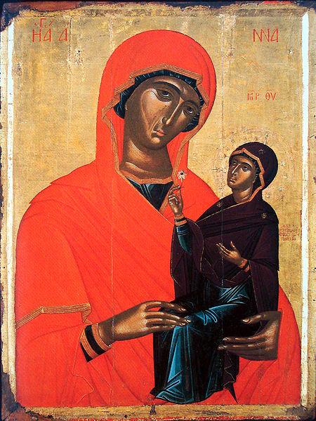 Angelos_Akotanos_Saint_Anne_with_the_Virgin_-_15th_century