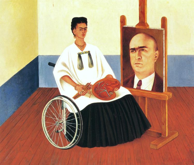 Frida Kahlo - Self-Portrait with the Portrait of Doctor Farill.