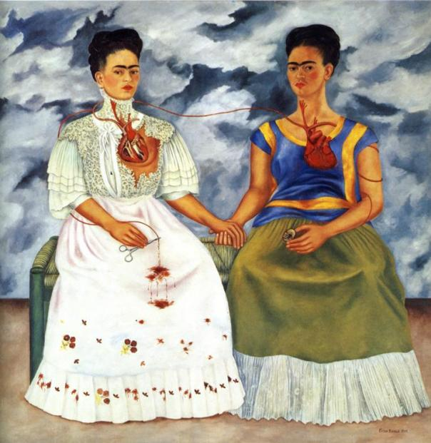 Frida Kahlo. The Two Fridas.