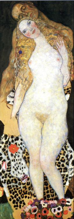Gustav Klimt - Adam and Eva (unfinished)