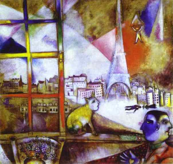 Marc Chagall. Paris through the Window.