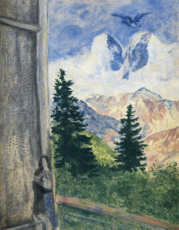 Marc Chagall. View at Peira-Cava.