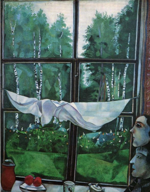 Marc Chagall. Window in the Country.