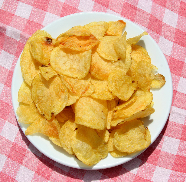 plate of chips