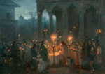 Theodor Aman - Slujba Învierii la Stavropoleos