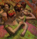 Edgar Degas. Ballerinas Adjusting Their Dresses