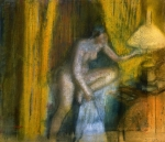 Edgar Degas. Before the Curtain Call