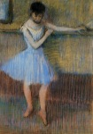 Edgar Degas. Dancer in Blue at the Barre