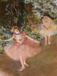 Edgar Degas. Dancer on Stage 1