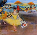 Edgar Degas. Dancer with a Bouquet Bowing
