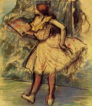 Edgar Degas. Dancer with a Fan 2