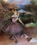 Edgar Degas. Dancer with Bouquets