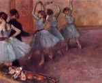 Edgar Degas. Dancers in Light Blue
