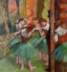 Edgar Degas. Dancers, Pink and Green 1