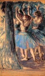 Edgar Degas. Group of Dancers, Tree Decor