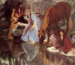 Edgar Degas. Mademoiselle Fiocre in the Ballet 'La Source'
