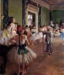 Edgar Degas. The dance class