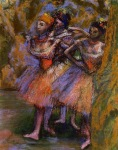 Edgar Degas. Three Dancers 4