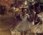 Edgar Degas. Three Dancers behind the Scenes