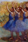 Edgar Degas. Three Dancers in Purple Skirts