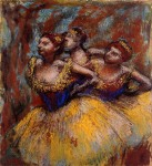 Edgar Degas. Three Dancers - Yellow Skirts, Blue Blouses