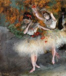 Edgar Degas. Two Dancers Entering the Stage