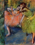 Edgar Degas. Two Dancers in the Studio