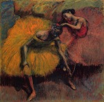 Edgar Degas. Two Dancers in Yellow and Pink