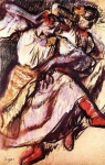 Edgar Degas. Two Russian Dancers
