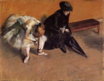 Edgar Degas. Waiting