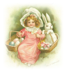 free-vintage-easter-clip-art-little-girl-bonnet-baskets-eggs-bunny