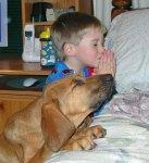 boy_dog_pray
