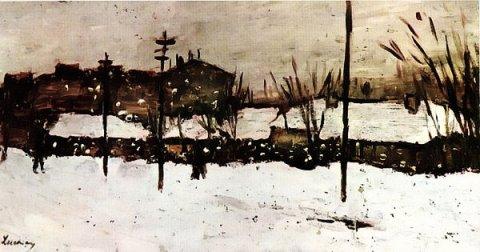 Ștefan Luchian – Iarna la Bariera Filantropia
