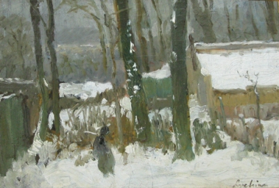 Ștefan Luchian - Peisaj de iarna