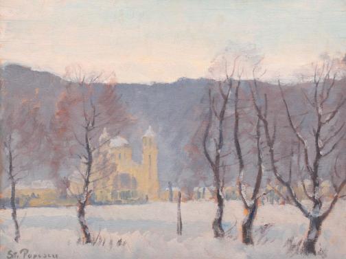Ștefan Popescu – Peisaj de iarnă