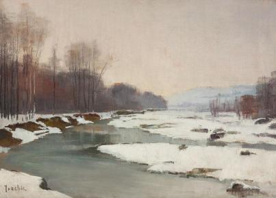Constantin Isachie Popescu – Peisaj de iarnă