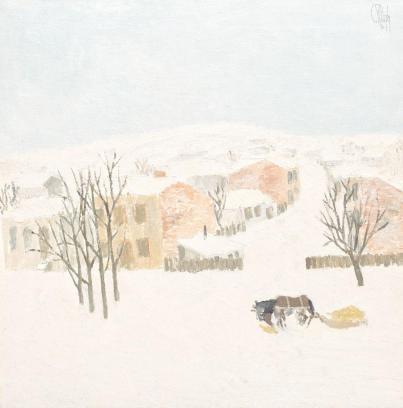 Constantin Piliuță - Peisaj de iarnă..