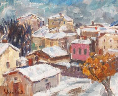Dumitru Ghiaţă - Peisaj de iarnă