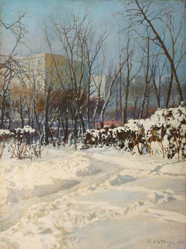 George Catargi - Peisaj de iarnă