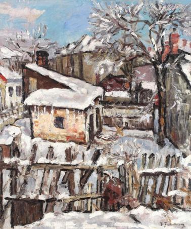 Ion Ţuculescu - Iarna în mahala