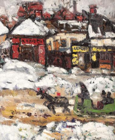 Ion Ţuculescu - Iarnă pe strada Lizeanu