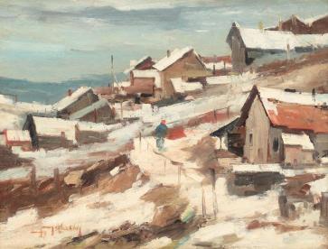 Jean Cheller - Peisaj de iarnă în Dobrogea