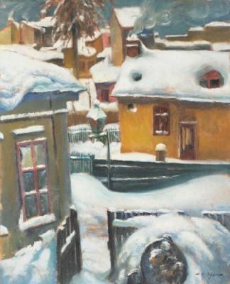Leon Biju - Iarnă peste oraş