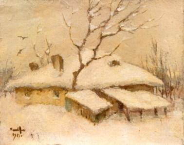 Nicolae Tonitza – Case sub zăpadă